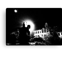 City square by night, Threshold Effect Canvas Print
