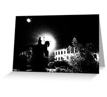 City square by night, Threshold Effect Greeting Card