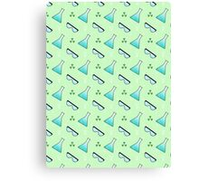 Science Pattern (Green) Canvas Print