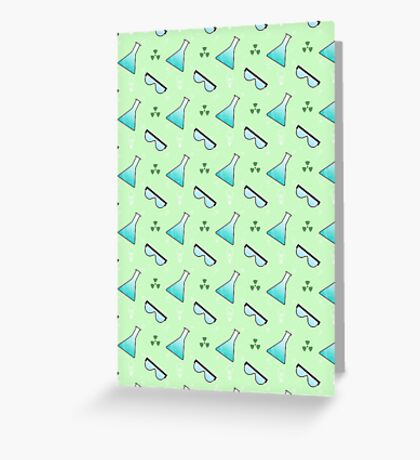 Science Pattern (Green) Greeting Card