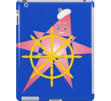 Funny Starfish at the Helm iPad Case/Skin