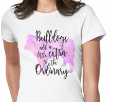 Extraordinary Bulldog Watercolor Womens Fitted T-Shirt