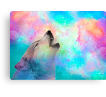 Breathing Dreams Like Air (Wolf Howl Abstract I: Mint) Canvas Print