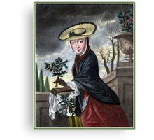Allegory of December - Christmas Canvas Print
