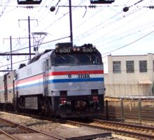 Amtrak E-60 Electric Locomotive #600 Sticker