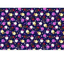 Cute Colorful Cupcakes Seamless Pattern-Purple Tint Photographic Print