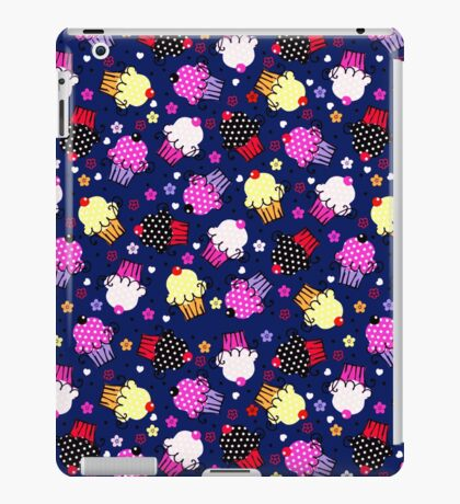 Cute Colorful Cupcakes Seamless Pattern-Purple Tint iPad Case/Skin