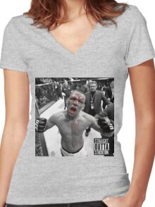 *Nate ufc* Women's Fitted V-Neck T-Shirt
