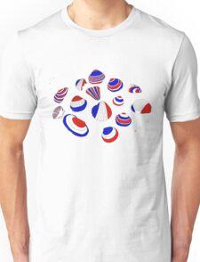 Tricolor Seashells Unisex T-Shirt