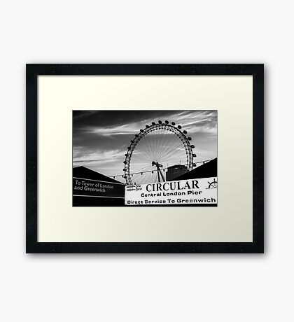 Circular Reference @londonlights Framed Print