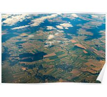 Earth Photo From 10.000m (32.000 feet) Above Ground Poster