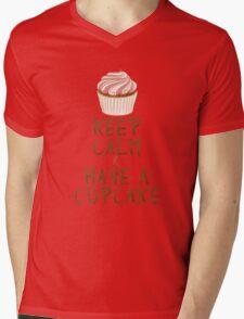 Keep Calm & Have a Cupcake Mens V-Neck T-Shirt