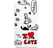 I Heart Cats iPhone Case/Skin