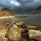 Rocks and Canoe, Wastwater. by Billlee