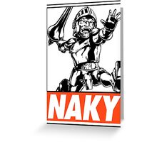 Arthur Naky Obey Design Greeting Card