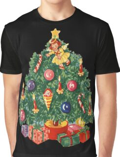 Ugly Christmas Sweater Retro Christmas Tree Graphic T-Shirt