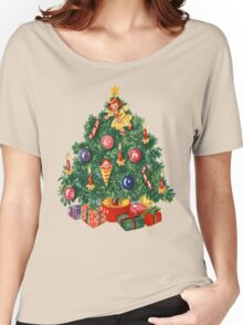 Ugly Christmas Sweater Retro Christmas Tree Women's Relaxed Fit T-Shirt