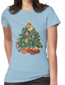 Ugly Christmas Sweater Retro Christmas Tree Womens Fitted T-Shirt