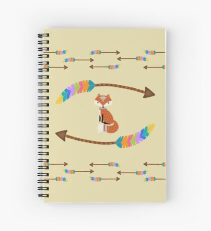 Fox - Arrows  Spiral Notebook