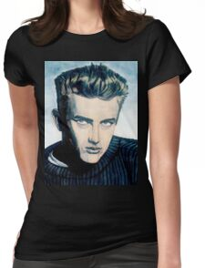 James Dean: Blue Womens Fitted T-Shirt