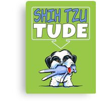 Shih Tzu Tude (Dark) Canvas Print