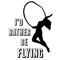 I'd Rather Be Flying, aerial dance design, Black and White Photographic Print