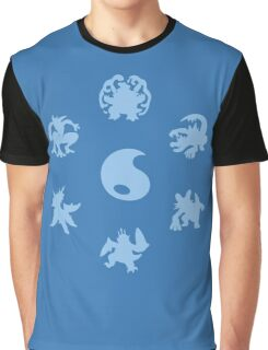 Water Type Starters Circle Graphic T-Shirt
