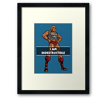 "He-Man ""I am Indestructible"" Framed Print"