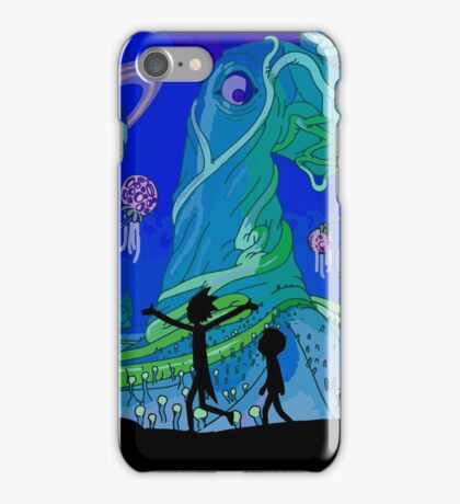 Rick and Morty - Blue Planet Adventure iPhone Case/Skin