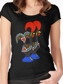 Portuguese Rooster Couple Women's Fitted Scoop T-Shirt