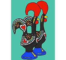 Portuguese Rooster Couple Photographic Print