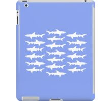 School of Sharks Blue and White iPad Case/Skin