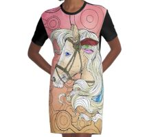 Colouring Book Horse 01 Graphic T-Shirt Dress