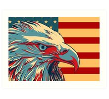 American Patriotic Eagle Bald Art Print