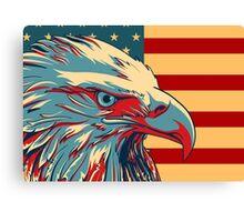 American Patriotic Eagle Bald Canvas Print