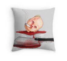Dead smoking Doll Throw Pillow
