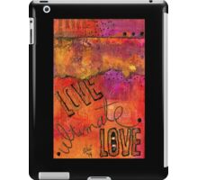 Ultimate LOVE is a Just So Colorful iPad Case/Skin