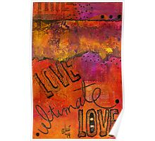 Ultimate LOVE is a Just So Colorful Poster