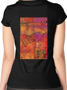 Ultimate LOVE is a Just So Colorful Women's Fitted Scoop T-Shirt