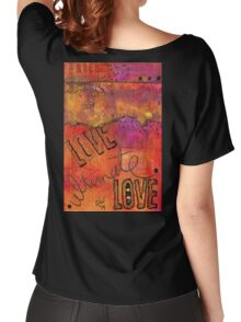 Ultimate LOVE is a Just So Colorful Women's Relaxed Fit T-Shirt