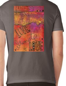 Ultimate LOVE is a Just So Colorful Mens V-Neck T-Shirt