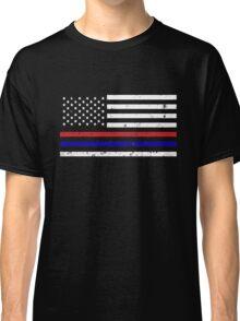 Thin Blue Red Line Flag Classic T-Shirt