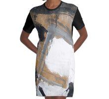 gray Graphic T-Shirt Dress