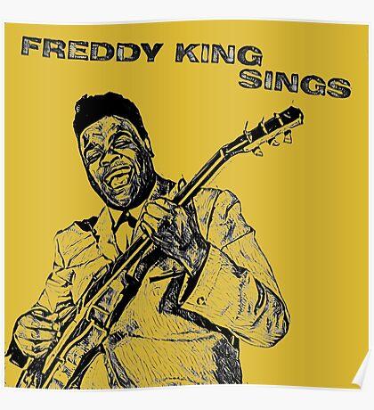 Freddie King in Pencil Poster