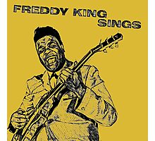 Freddie King in Pencil Photographic Print
