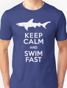 Keep Calm and Swim Fast Funny T-Shirt