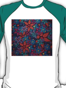 Retro Trendy Floral Pattern T-Shirt