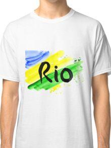 inscription Rio, Olympic games 2016 Rio de Janeiro  Classic T-Shirt