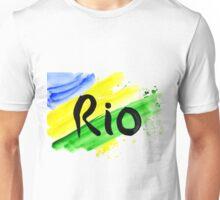 inscription Rio, Olympic games 2016 Rio de Janeiro  Unisex T-Shirt