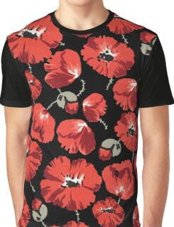 Floral montage of red poppies Graphic T-Shirt